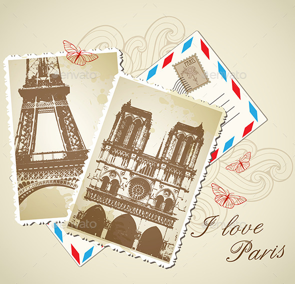 GraphicRiver Vintage Photos of Paris 10016170