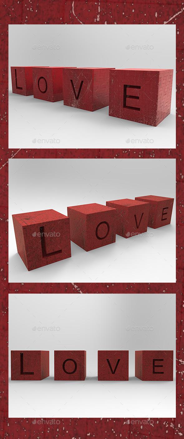 GraphicRiver Love in 3D 10016842