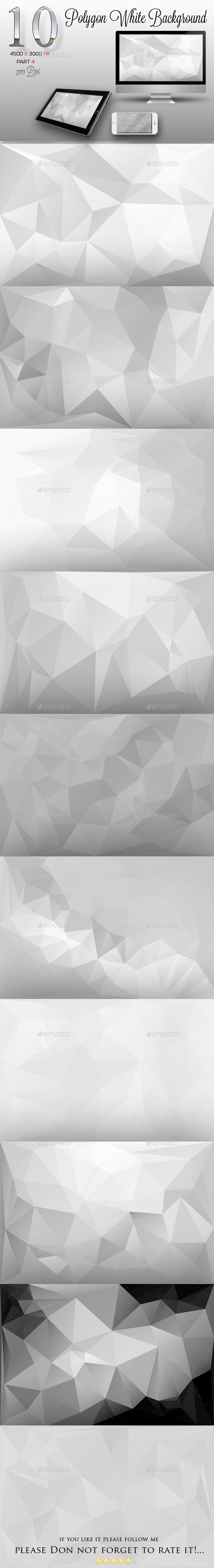 10 Polygon White Background Part 4
