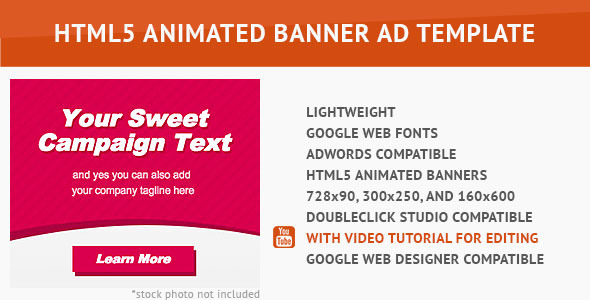CodeCanyon Sweet HTML5 Animated Banner 10017026