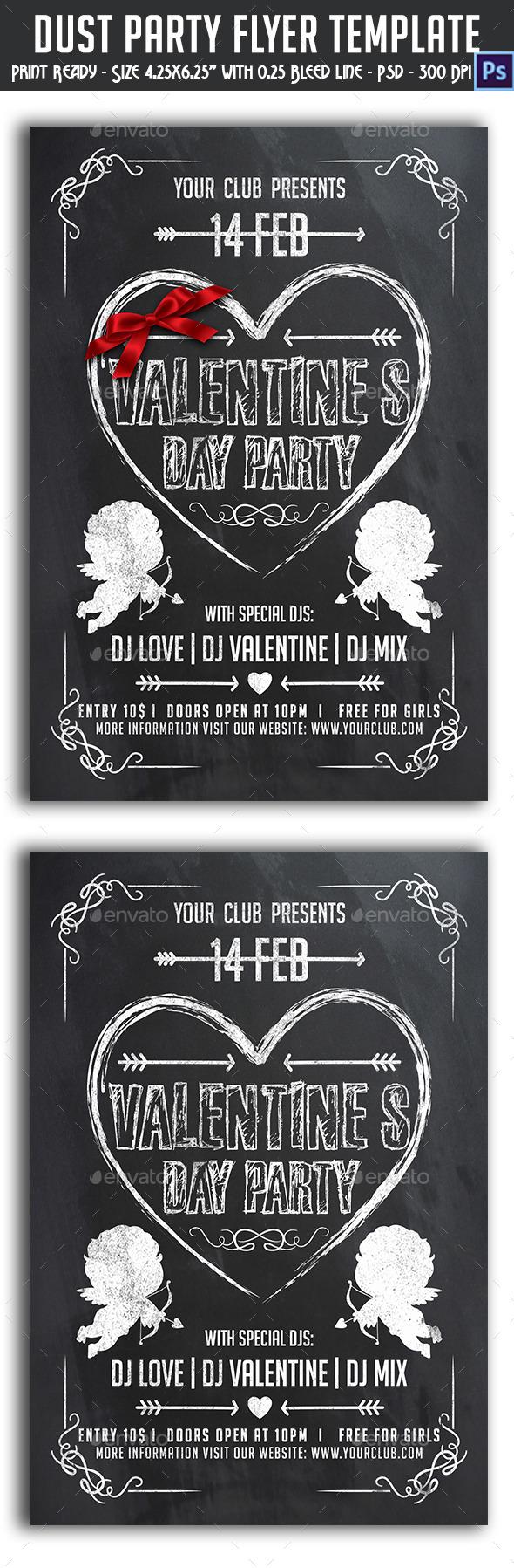 GraphicRiver Valentine s Day Flyer 10002789
