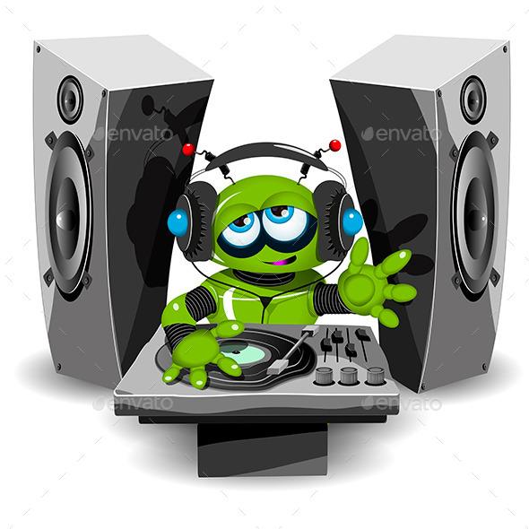 GraphicRiver Robot DJ 10017389