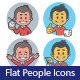 Two Sets of Flat Icon with Characters Businessman - GraphicRiver Item for Sale