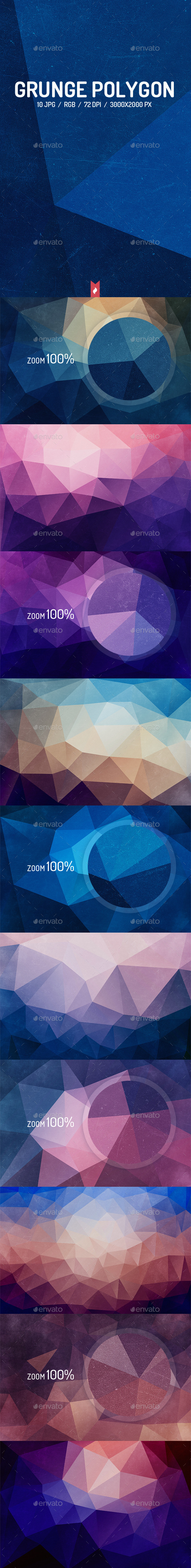 GraphicRiver Grunge Polygon Backgrounds 10017409