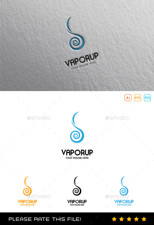 GraphicRiver E Cigarette Logo 10017461