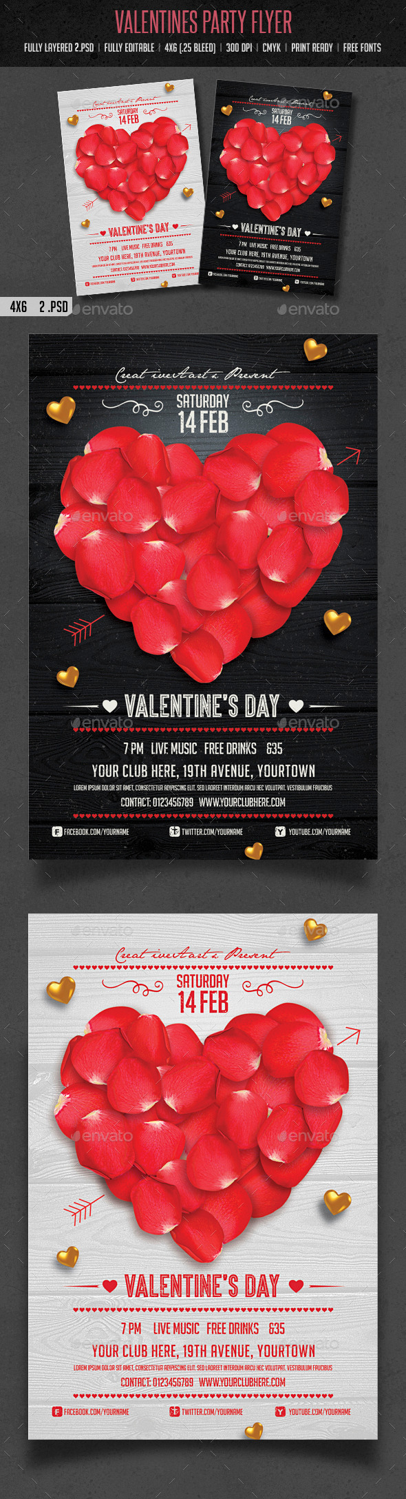 GraphicRiver Valentines Day Flyer 10017695