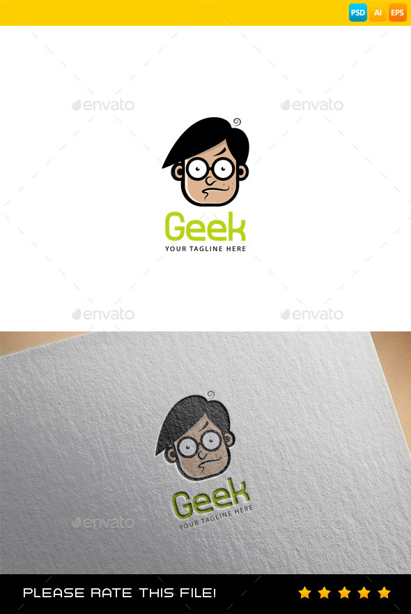 GraphicRiver Geek Logo 10017697