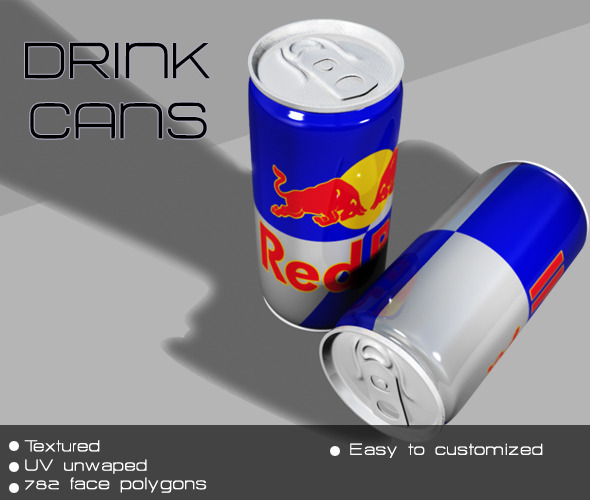 Drink cans - 3DOcean Item for Sale