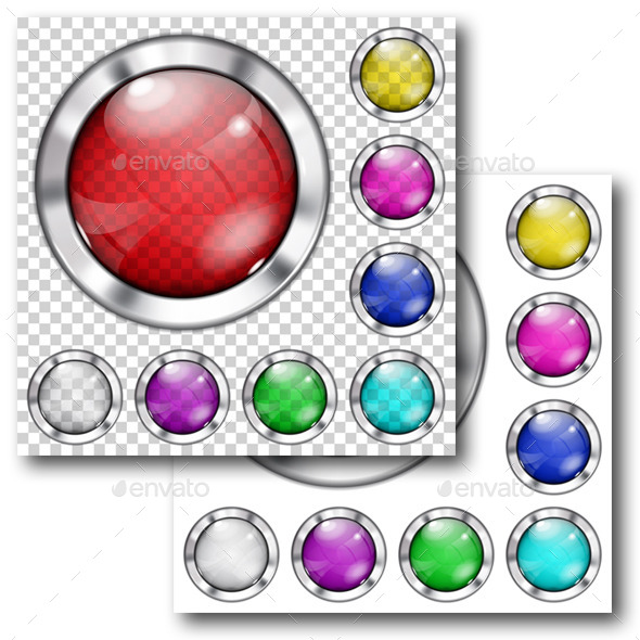 GraphicRiver Set of Glass Buttons 10017729