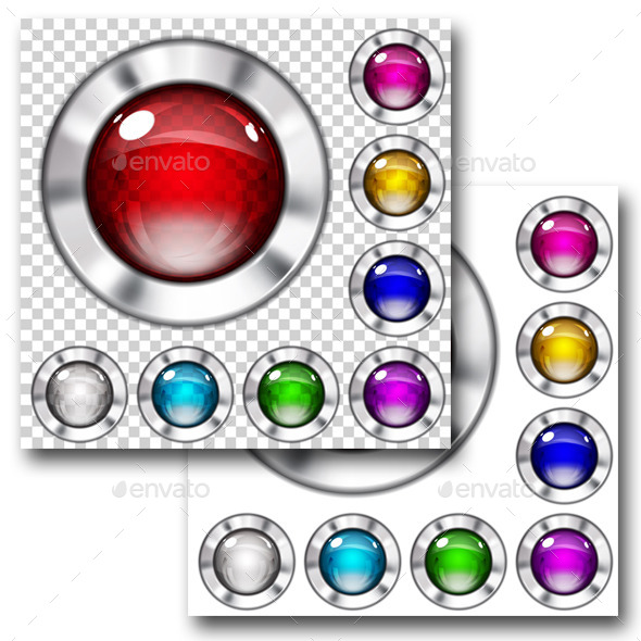 GraphicRiver Set of Glass Buttons 10017734