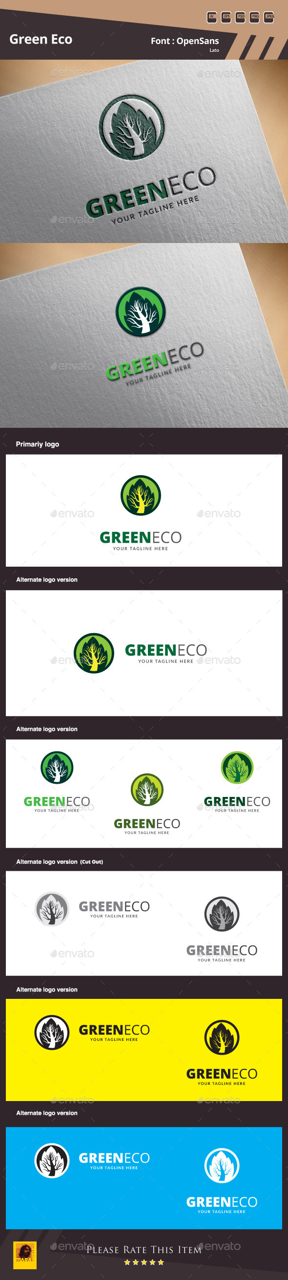 Green Eco Logo Template