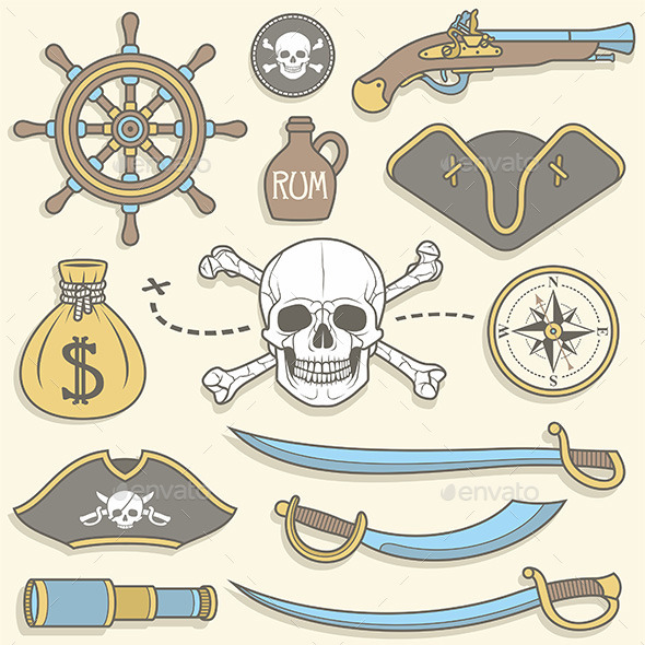 GraphicRiver Pirates set 10017802