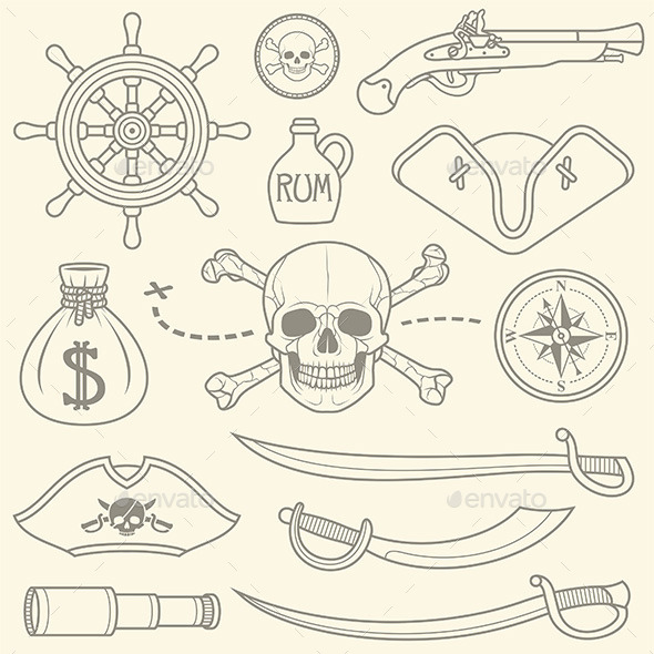 GraphicRiver Pirates Set 10017807