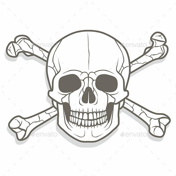 GraphicRiver Skull and Bones 10017811