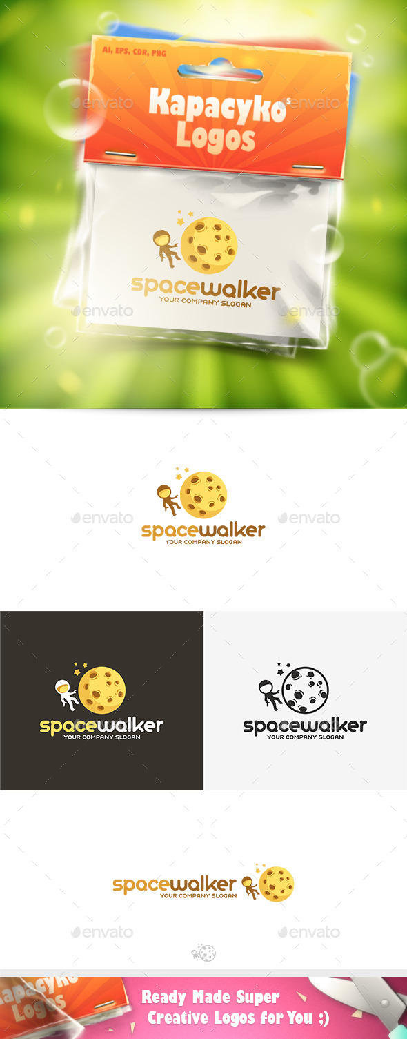 GraphicRiver Space Walker Logo 10017870