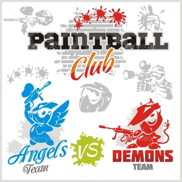 GraphicRiver Paintball Emblems 10017880