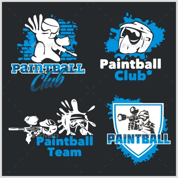 GraphicRiver Paintball Emblems 10017884