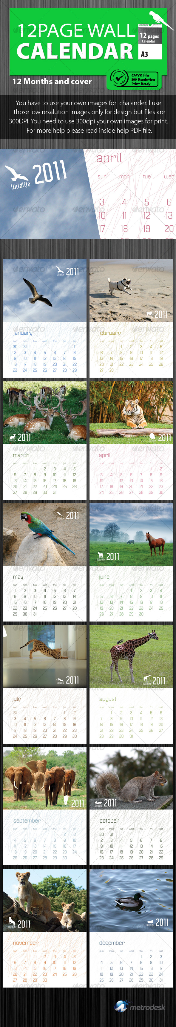 Wildlife Calendar 2011 [ 12 pages ] - Calendars Stationery