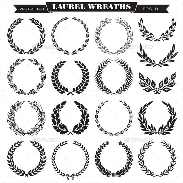 GraphicRiver Laurel Wreaths Vector 10018001