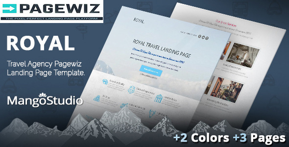 ThemeForest Royal Travel Pagewiz Landing Page Template 9984646