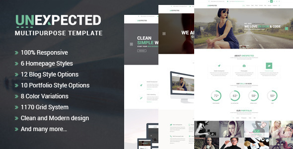 ThemeForest Unexpected Multipurpose HTML Template 7814098