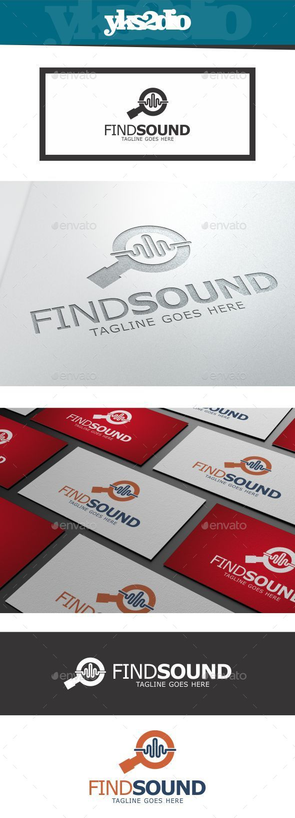 GraphicRiver Find Echo Wave Logo 10018265