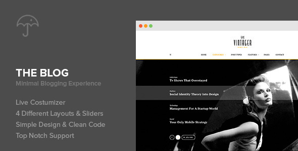 ThemeForest The Blog Minimal Blogging Experience 9936485