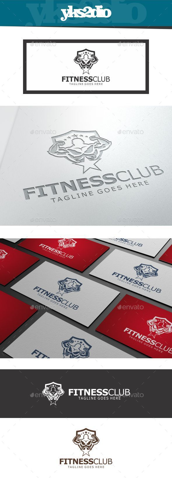Body Builder Fitness Logo