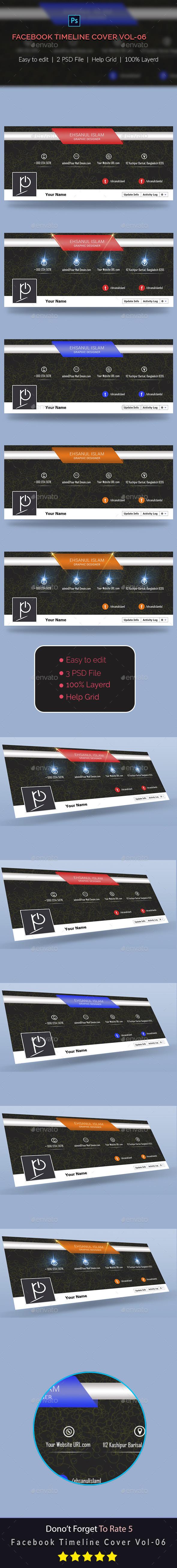 GraphicRiver Facebook Timeline Cover Vol-06 10018351