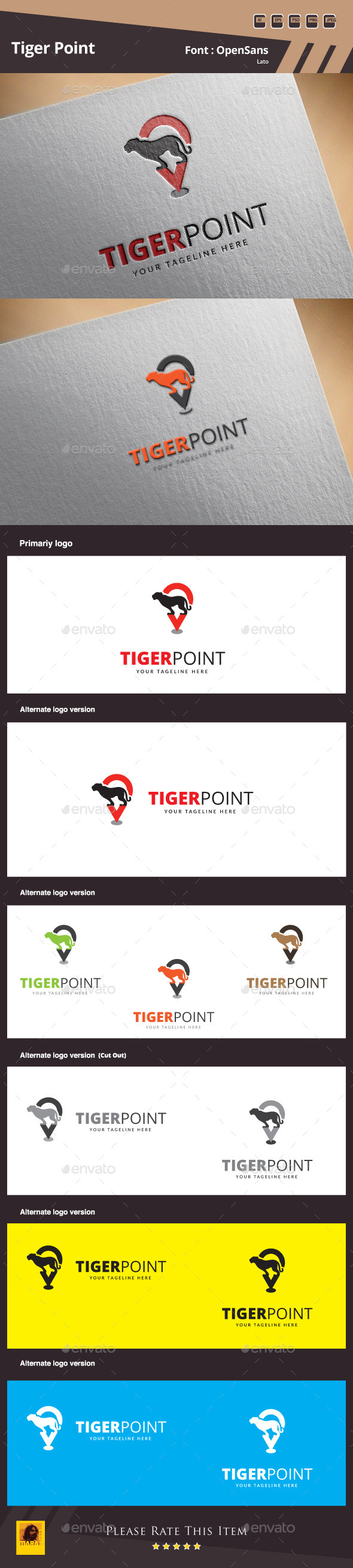 GraphicRiver Tiger Point Logo Template 10018673