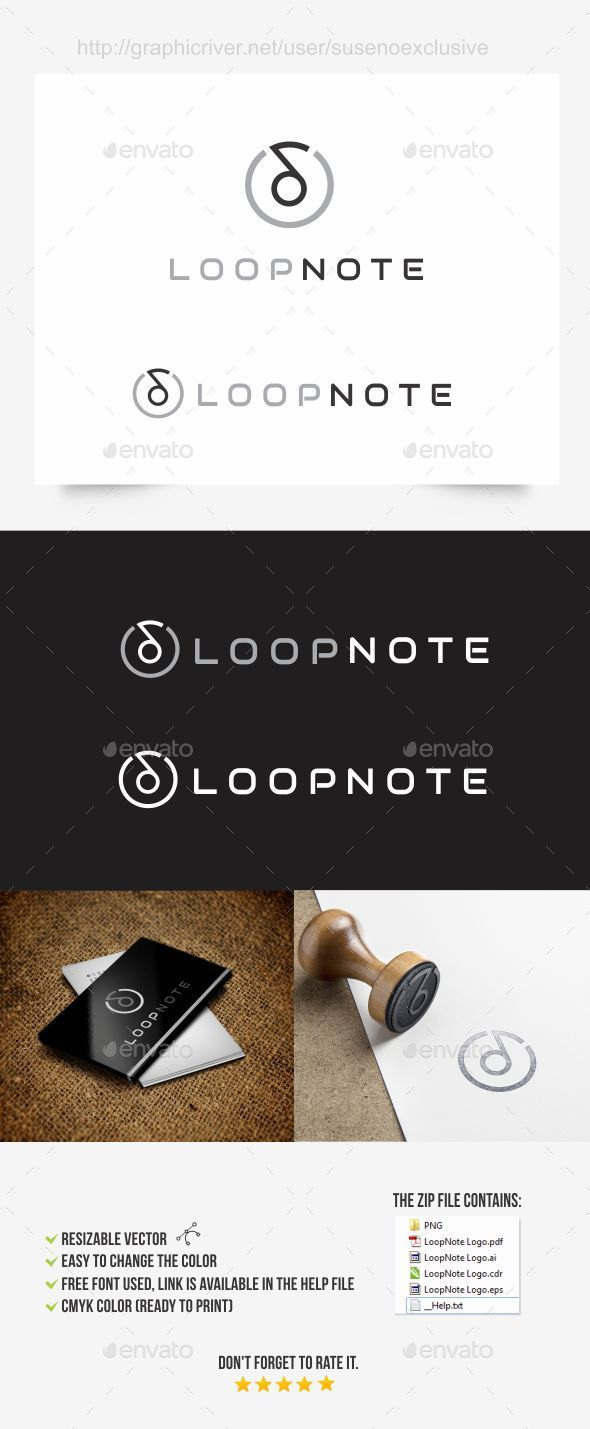 GraphicRiver Music Note Logo 10018752