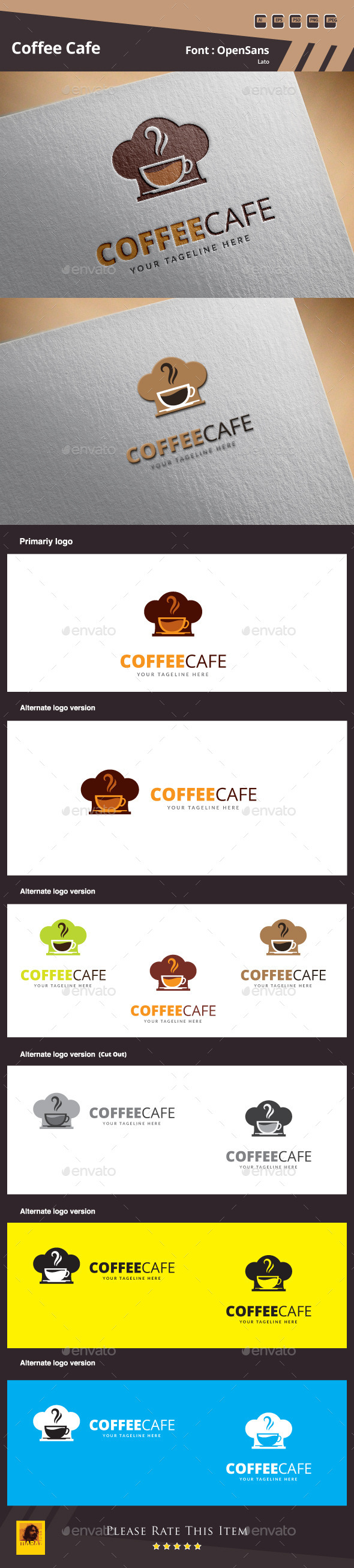 GraphicRiver Coffee Cafe Logo Template 10018795