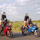 Dancing Girl On A Motorcycle 2 - VideoHive Item for Sale