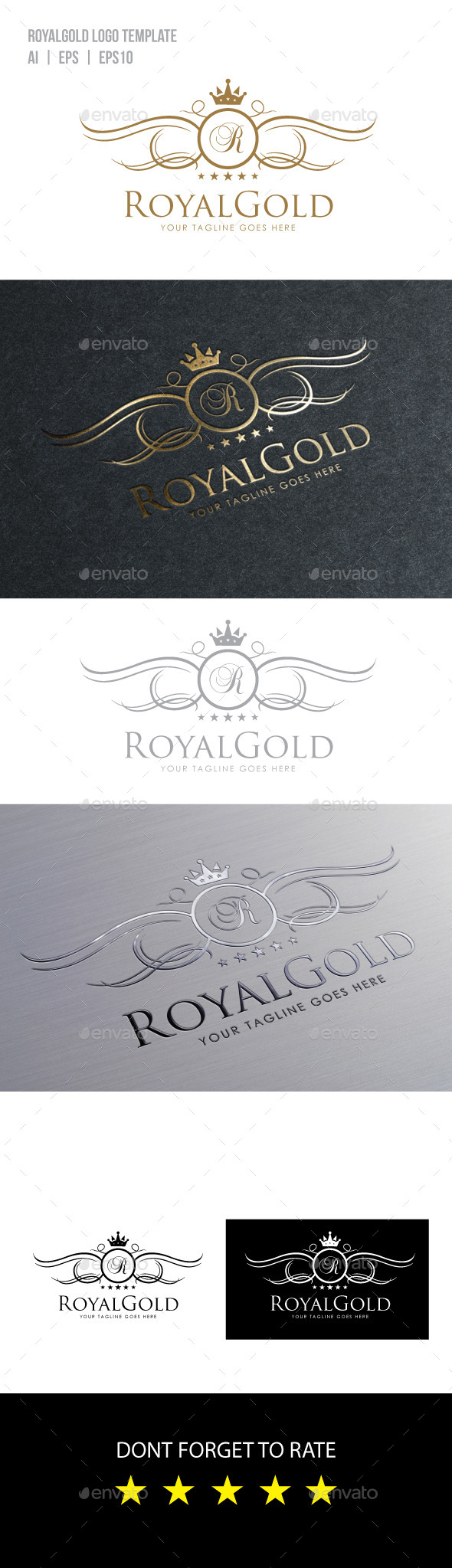 GraphicRiver Royal Gold Logo Template 10018858