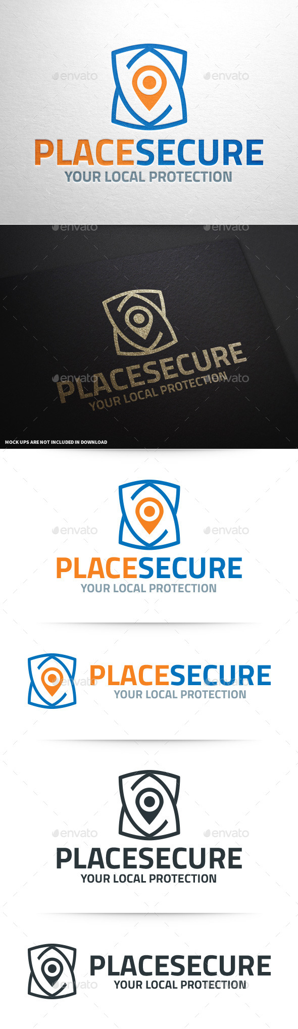 GraphicRiver Place Secure Logo Template 10019099