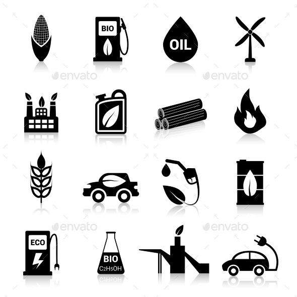 GraphicRiver Bio Fuel Icons Black 10019201