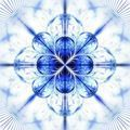 Symmetrical fractal flower blue, digital artwork for creative graphic - PhotoDune Item for Sale