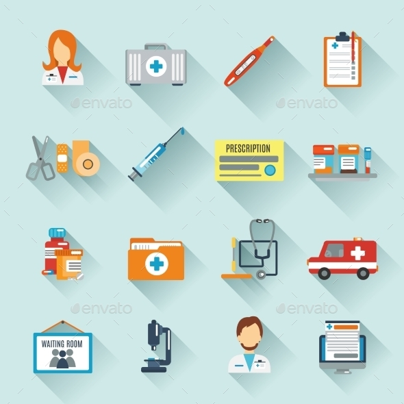 GraphicRiver Doctor Icon Set 10019232