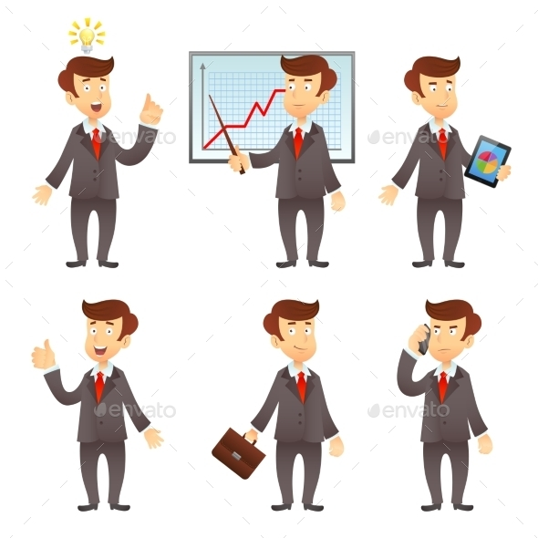 GraphicRiver Businessman Cartoon Characters 10019262