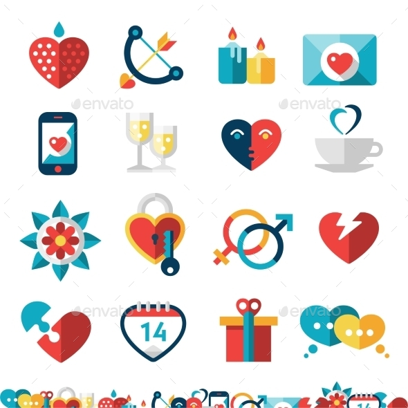 GraphicRiver Dating Icon Set 10019276