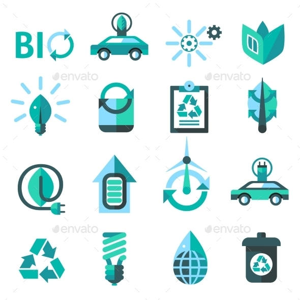 GraphicRiver Ecology and Recycling Icons 10019321