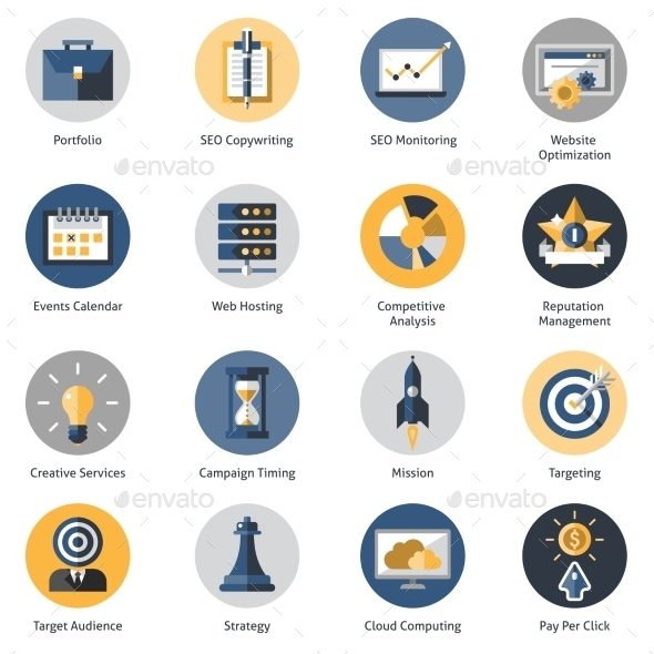 GraphicRiver Seo Icons Set 10019418