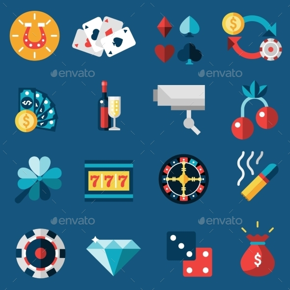 GraphicRiver Casino Icons Set 10019467