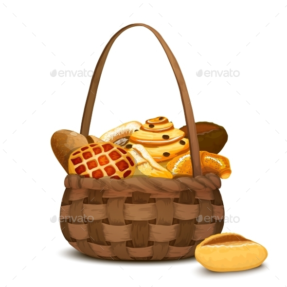 GraphicRiver Bakery In Basket 10019483