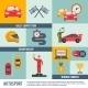Auto Sport Icon Flat - GraphicRiver Item for Sale