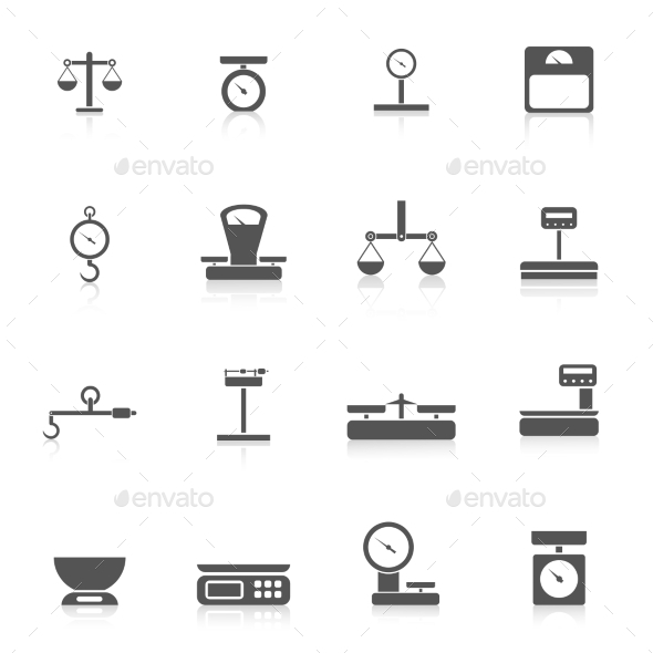 GraphicRiver Scales Weight Icon 10019824