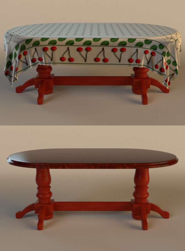 3DOcean table with cloth 9952845