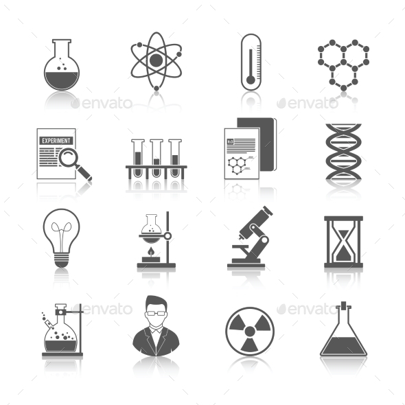 GraphicRiver Chemistry Icons Black 10020138