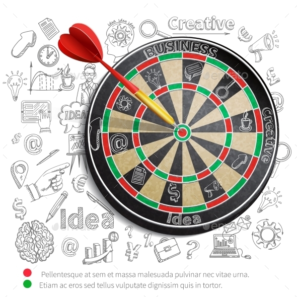 GraphicRiver Creative Background with Dartboard 10020159