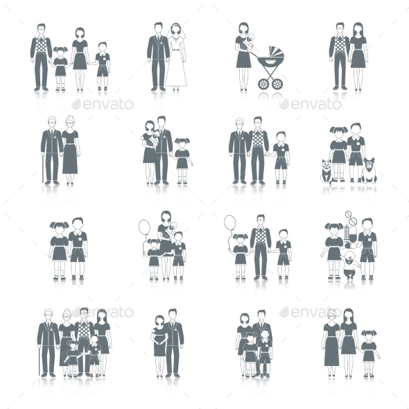 GraphicRiver Family Icons 10020169